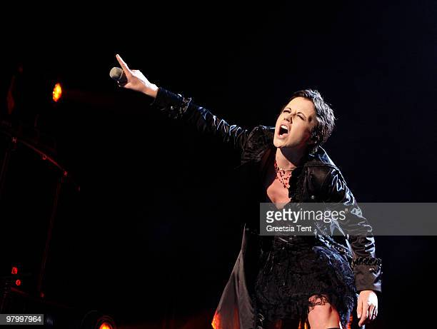 Dolores O'Riordan of The Cranberries performs live at Heineken Music Hall on March 23 2010 in Amsterdam Netherlands