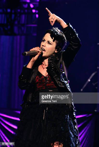 Dolores O'Riordan of The Cranberries performs live at Heineken Music Hall on March 23, 2010 in Amsterdam, Netherlands.