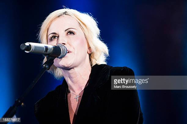 Dolores O'Riordan of The Cranberries performs on stage at Hammersmith Apollo on October 2, 2012 in London, United Kingdom.