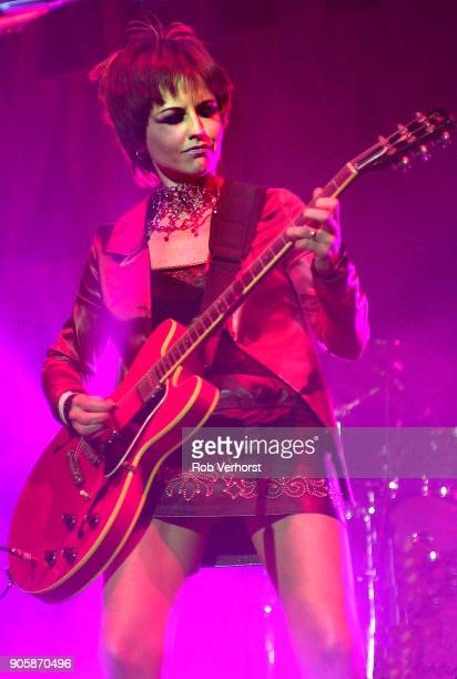 Dolores O'Riordan of The Cranberries performs on stage at Heineken Music Hall Amsterdam Netherlands 29th March 2002