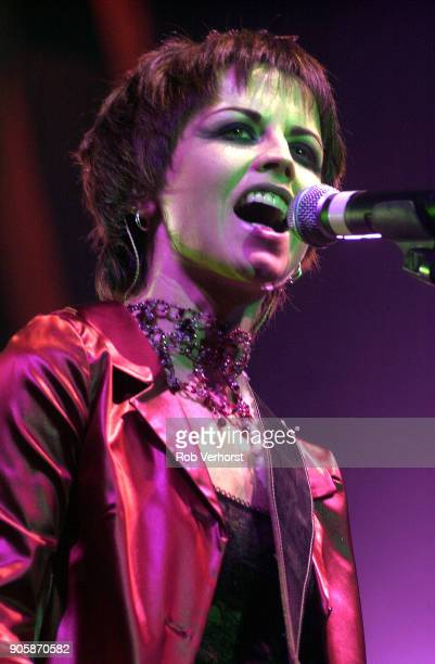 Dolores O'Riordan of The Cranberries performs on stage at Heineken Music Hall, Amsterdam, Netherlands, 29th March 2002.