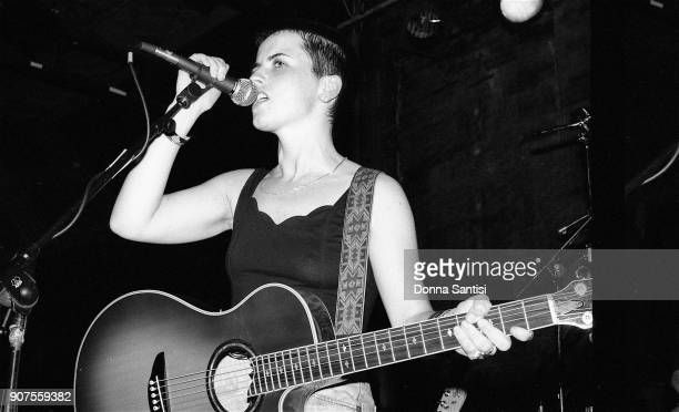 Dolores O'Riordan of The Cranberries performs on stage at The Troubadour in Los Angeles on July 15 1993