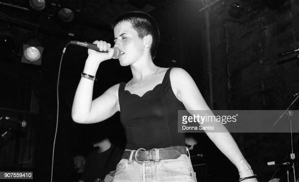 Dolores O'Riordan of The Cranberries performs on stage at The Troubadour in Los Angeles on July 15, 1993.