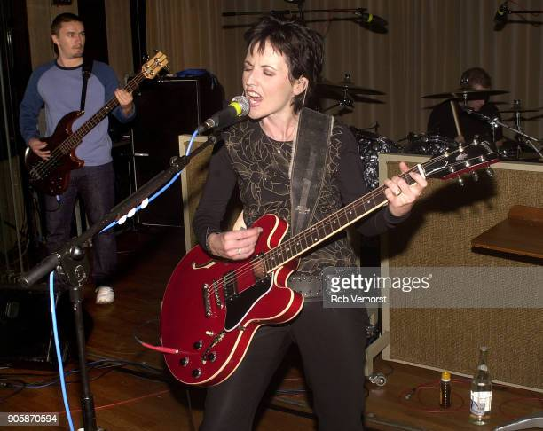 Dolores O'Riordan of The Cranberries performs on stage at Wisseloord Studios Hilversum Netherlands 24th September 2001