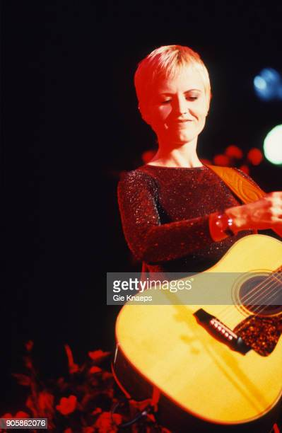 Dolores O'Riordan of The Cranberries performs on stage Botanique Brussels Belgium