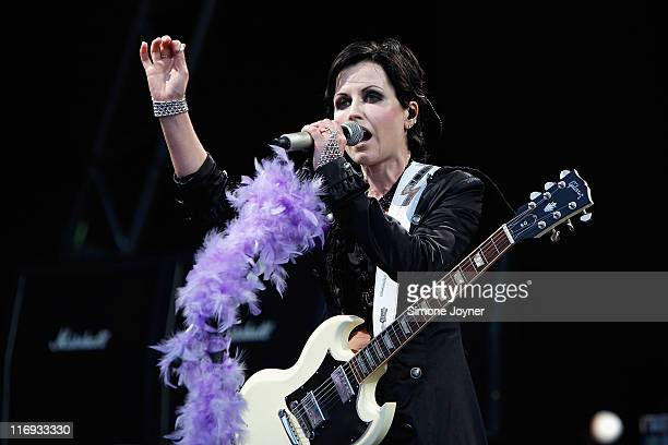 Dolores O'Riordan of The Cranberries performs on stage during day one of Feis Festival 2011 at Finsbury Park on June 18 2011 in London United Kingdom