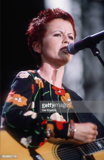 Dolores O'Riordan of The Cranberries performs on stage, Torhout/Werchter Festival, Torhout, Belgium, .