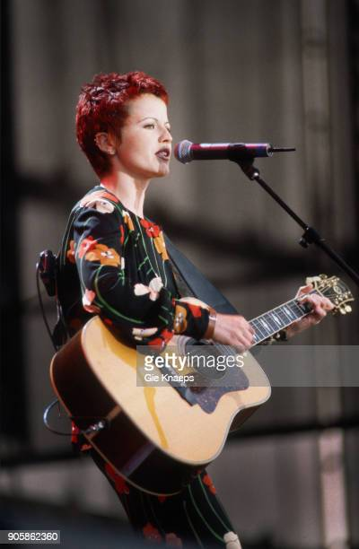 Dolores O'Riordan of The Cranberries performs on stage Torhout/Werchter Festival Torhout Belgium
