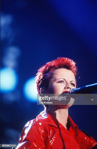 Dolores O'Riordan of The Cranberries performs on stage Torhout/Werchter Festival Werchter Belgium