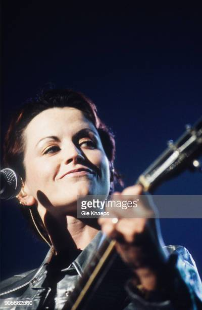 Dolores O'Riordan of The Cranberries performs on stage, Vorst Nationaal, Brussels, Belgium, .