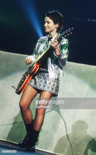 Dolores O'Riordan of The Cranberries performs on stage Vorst Nationaal Brussels Belgium