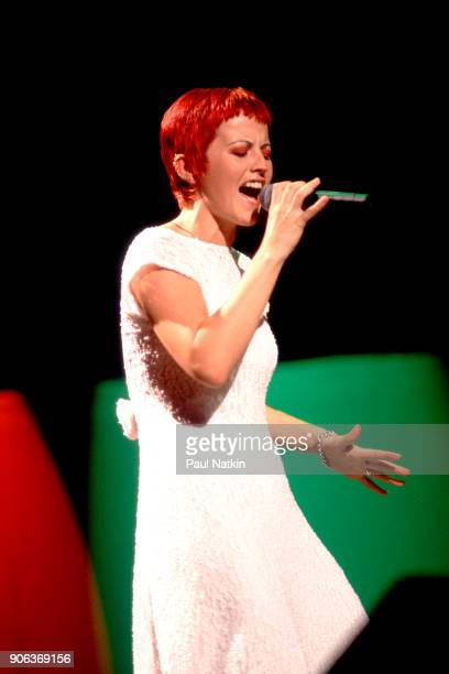 Dolores O'Riordan of the Cranberries performs onstage at the World Music Theater in Tinley Park Illinois August 24 1995