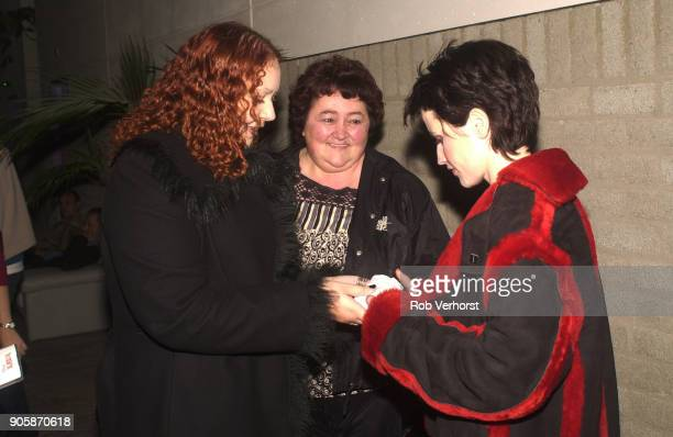 Dolores O'Riordan of The Cranberries takes part in a meet and greet with fans at Wisseloord Studios Hilversum Netherlands 24th September 2001