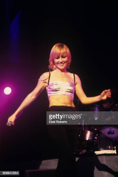 Dolores O'Riordan performing with The Cranberries at the Hammerstein Ballroom in New York City on May 5, 1999.