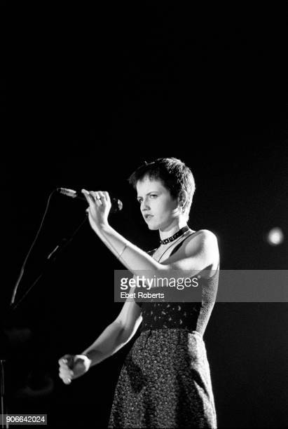 Dolores O'Riordan performing with The Cranberries at the Manhattan Center in New York City on November 11, 1993.