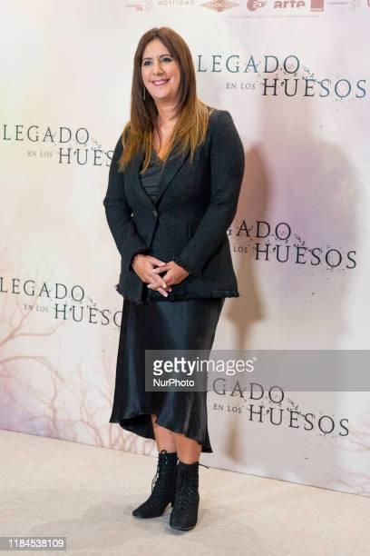 Dolores Redondo attends the 'Legado en los huesos' photocall at Hotel Urso on November 25 2019 in Madrid Spain
