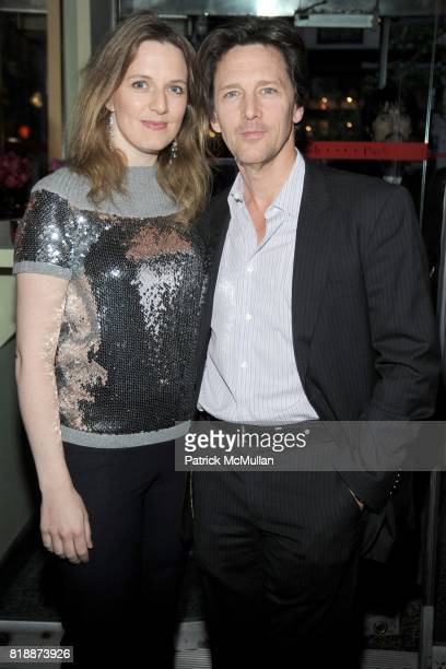 Dolores Rice and Andrew McCarthy attend CHANEL hosts 5th Annual TRIBECA FILM FESTIVAL Dinner INSIDE at The Odeon on April 28 2010 in New York City