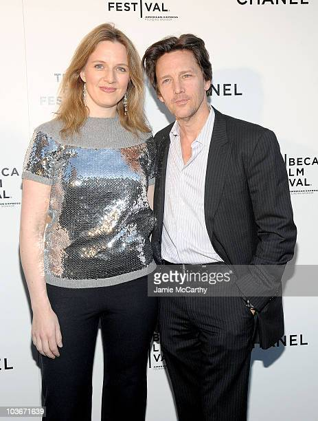 Dolores Rice and Andrew McCarthy attend the CHANEL Tribeca Film Festival Dinner in support of the Tribeca Film Festival Artists Awards Program at...