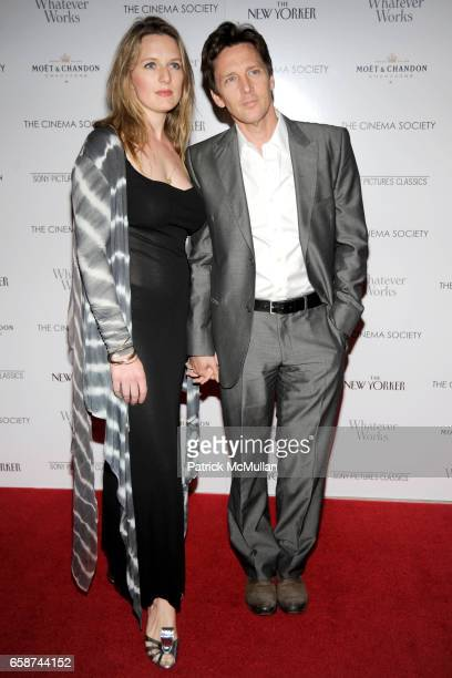 "Dolores Rice and Andrew McCarthy attend THE CINEMA SOCIETY & THE NEW YORKER host a screening of ""WHATEVER WORKS"" at Regal Cinema Battery Park on June..."