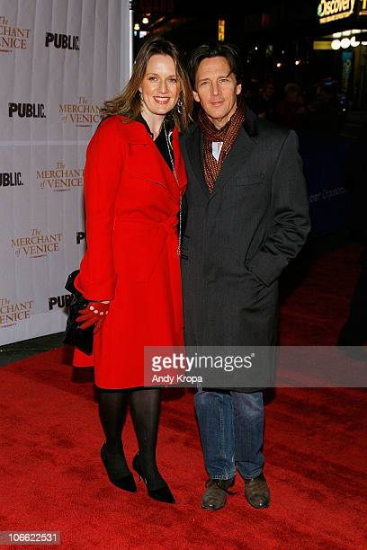 "Dolores Rice and Andrew McCarthy attend the opening night of ""The Merchant of Venice"" at The Broadhurst Theatre on November 7, 2010 in New York City."
