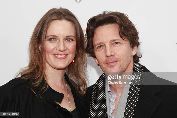 Dolores Rice and Andrew McCarthy attend The Weinstein Company with The Cinema Society Forevermark premiere of WE at the Ziegfeld Theater on January...
