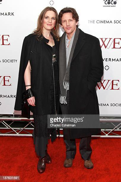 "Dolores Rice and Andrew McCarthy attend The Weinstein Company with The Cinema Society & Forevermark premiere of ""W.E."" at the Ziegfeld Theater on..."