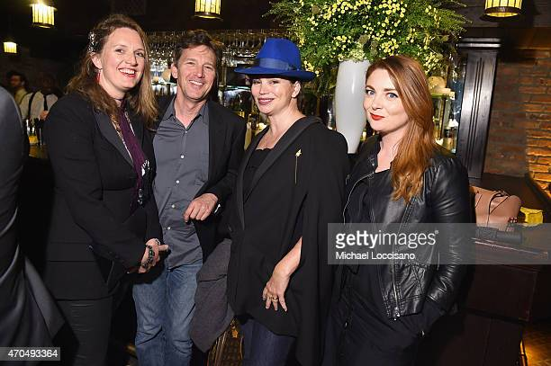 "Dolores Rice Andrew McCarthy Karen Duffy and guest attend the premiere of the SHOWTIME original comedy series ""HAPPYish"" on April 20 2015 in New York..."