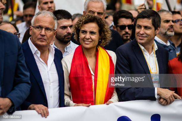 Dolors Montserrat of Partido Popular during the Spanish National day celebrations in Barcelona on October 12 2018