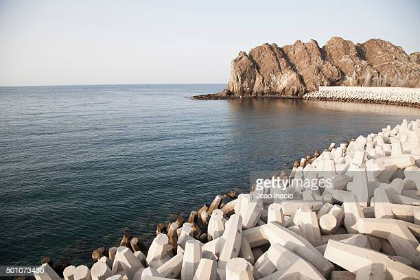 Dolos at Muttrah Corniche