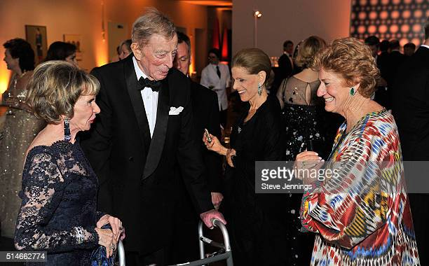 Dolph Andrews Annette de la Renta and Sophie Craighead attend the 'Oscar de la Renta The Retrospective' Benefit Gala at the de Young on March 9 2016...