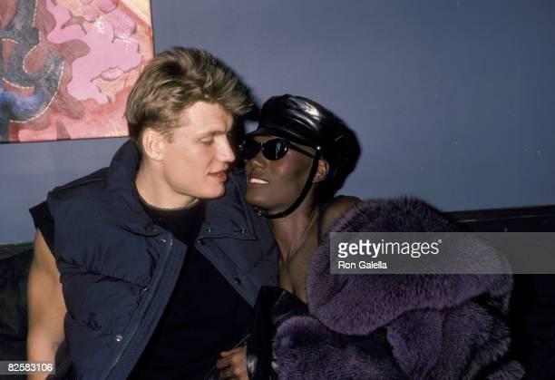 Dolph Lundgren and Grace Jones