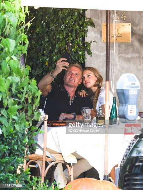 Dolph Lundgren and his daughter Ida Lundgren are seen on October 26, 2019 in Los Angeles, California.