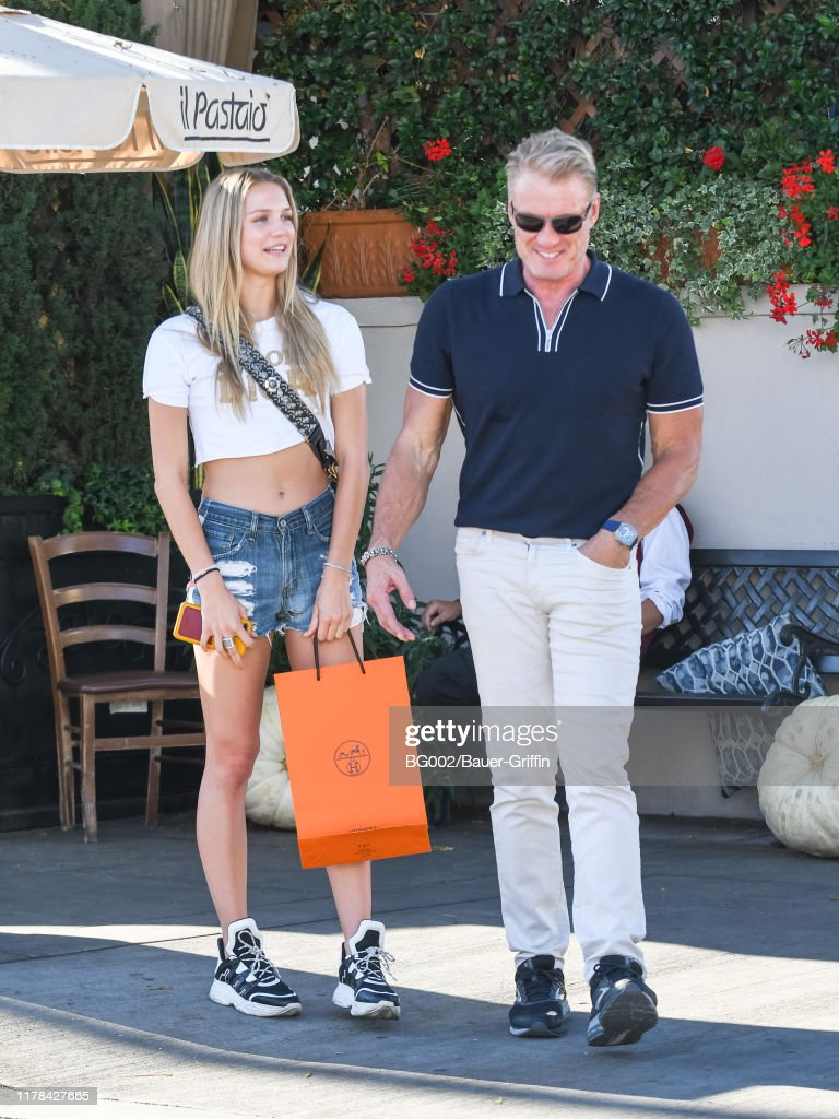 Dolph Lundgren and his daughter Ida Lundgren are seen on October 26,...  Foto di attualità - Getty Images