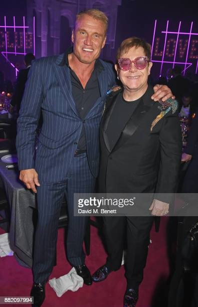 Dolph Lundgren and Sir Elton John attend CLUB LOVE for the Elton John AIDS Foundation in association with BVLGARI after party sponsored by Belvedere...