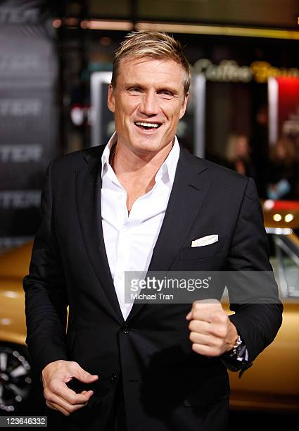 Dolph Lundgren arrives at the Los Angeles premiere of Faster held at Grauman's Chinese Theatre on November 22 2010 in Hollywood California