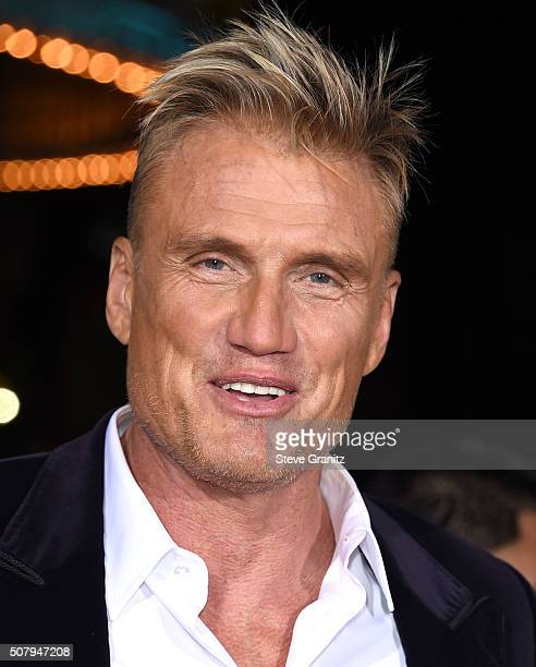 Dolph Lundgren arrives at the Premiere Of Universal Pictures' 'Hail Caesar' at Regency Village Theatre on February 1 2016 in Westwood California