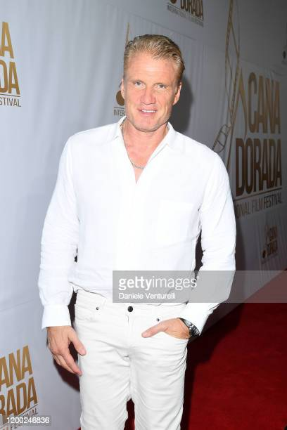 Dolph Lundgren attends Cana Dorada Film Music Festival White Gala Latin Night on January 17 2020 in Punta Cana Dominican Republic