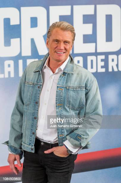 Dolph Lundgren attends 'Creed II La Leyenda De Rocky' photocall at Villa Magna Hotel on January 18 2019 in Madrid Spain