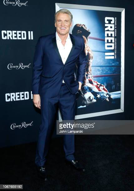 """Dolph Lundgren attends """"Creed II"""" New York Premiere at AMC Loews Lincoln Square on November 14, 2018 in New York City."""