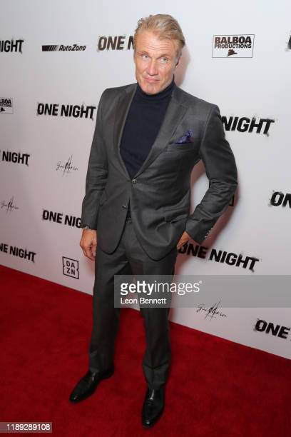 """Dolph Lundgren attends Premiere Of """"One Night: Joshua Vs. Ruiz"""" at Writers Guild Theater on November 21, 2019 in Beverly Hills, California."""