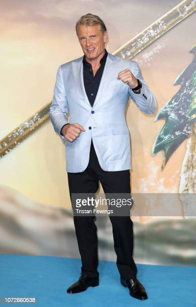 """Dolph Lundgren attends the """"Aquaman"""" world premiere at Cineworld Leicester Square on November 26, 2018 in London, England."""