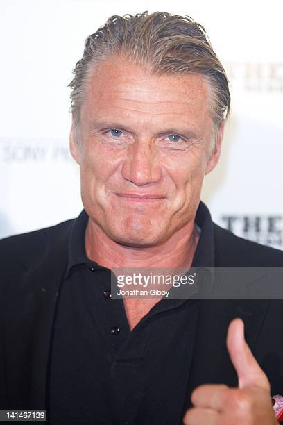Dolph Lundgren attends the Los Angeles Premiere of 'The Raid Redemption' on March 16 2012 in Beverly Hills California