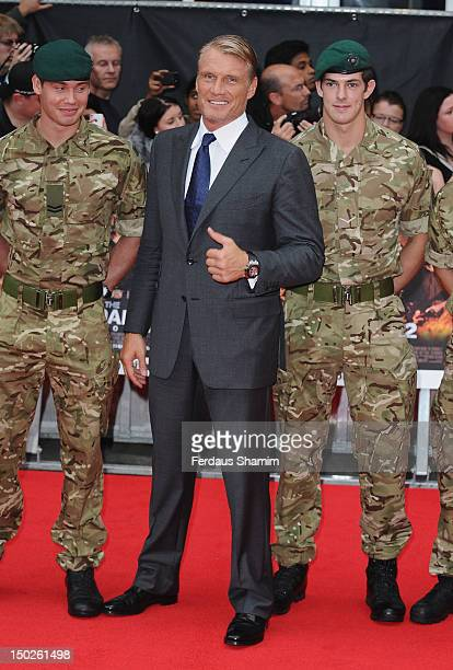 Dolph Lundgren attends the UK film premiere of The Expendables 2 on August 13 2012 in London United Kingdom