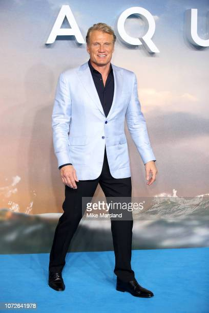 Dolph Lundgren attends the World Premiere of 'Aquaman' at Cineworld Leicester Square on November 26 2018 in London England