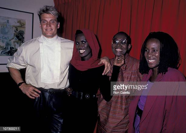 Dolph Lundgren Grace Jones and family during Grace Jones Sighting at Les Tuilieries Restaurant in New York City October 8 1985 at Les Tuilieries...