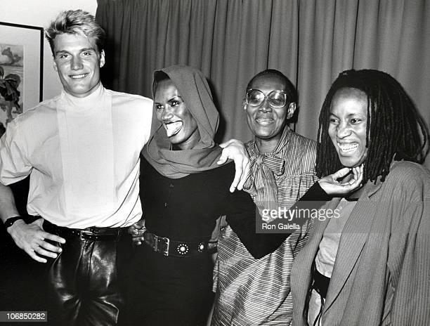 Dolph Lundgren Grace Jones Mother Marj and Sister Pam