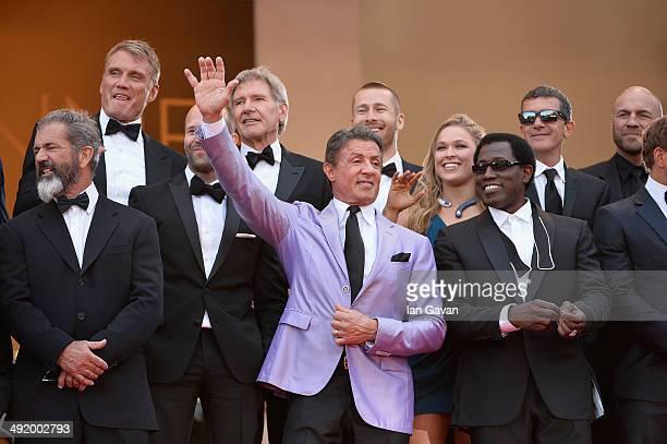 Dolph Lundgren Harrison Ford director Patrick Hughes actors Antonio Banderas Randy Couture Mel Gibson Jason Statham Sylvester Stallone Ronda Rousey...
