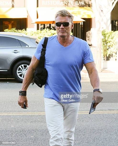Dolph Lundgren is seen in Beverly Hills on September 20 2014 in Los Angeles California