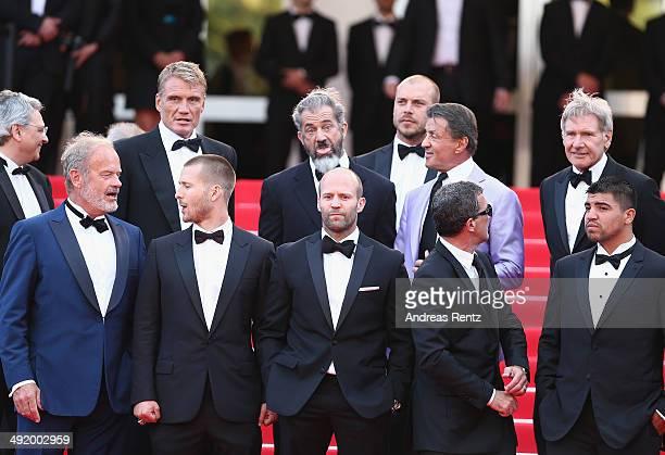 Dolph Lundgren Mel Gibson director Patrick Hughes Sylvester Stallone Harrison Ford Kelsey Grammer Glen Powell Jason Statham Antonio Banderas Randy...