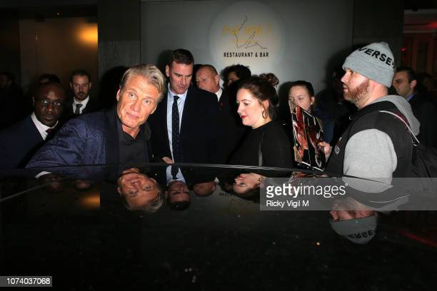Dolph Lundgren seen on a night out at Nobu Berkeley after Creed II UK film premiere on November 28, 2018 in London, England.